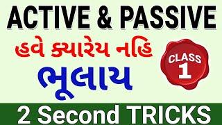 Active voice Passive voice in Gujarati   ENGLISH GRAMMAR in gujarati