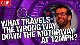 Download QI | What Travels The Wrong Way Down The Motorway At 12mph? Video