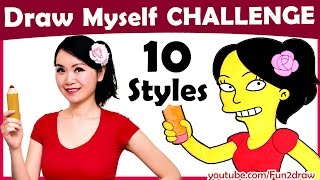 Download Art Challenge - How to Draw Myself in 10 Animated Art Styles! | Mei Yu - Fun2draw Video