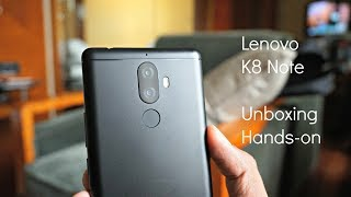 Download Lenovo K8 Note Unboxing, Hands on, Camera Features Video