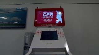 Download CPR kiosks...learn to save a life in 5 minutes! Video