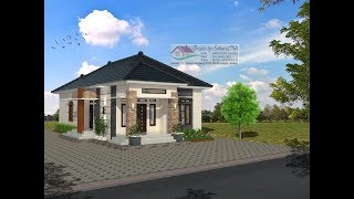 Download Modern House (7,5x17) 3 K. Tidur. Desain Rumah Minimalis Lantai 1 Video
