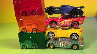 Download Lightning mcqueen jackson storm cruz ramirez and chick hicks disney pixar cars 3 racers learn colors Video