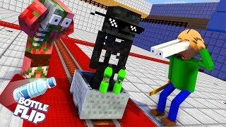 Download Monster School : BALDI'S BASICS & BOTTLE FLIP CHALLENGE - Minecraft Animation Video