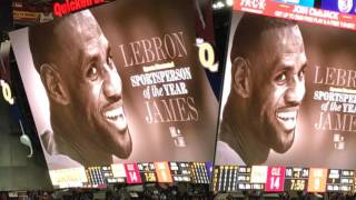 Download Cleveland Cavaliers fans celebrate LeBron's SI award Video