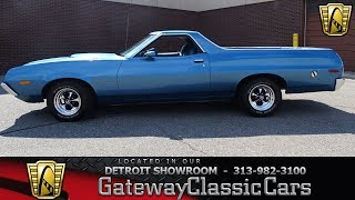 Download 1972 Ford Ranchero GT Stock # 964-DET Video