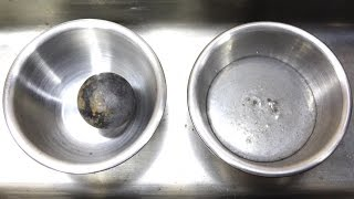 Download Super Cooled Nickel Ball in Mercury Video