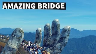 Download Golden Bridge on Ba Na Hills, Da Nang, Vietnam - Stunning Footage Video
