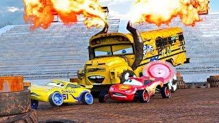 Download ″FIRE-UP″ 🔥 Miss Fritter & Lightning McQueen Racing Days. Crash N Smash Crazy 8 Race Disney Cars 🔥 Video
