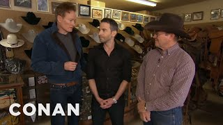 Download Conan Gives Jordan Schlansky A Cowboy Makeover Video