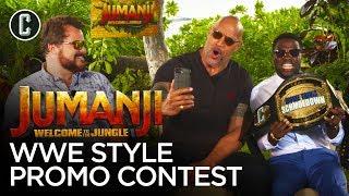 Download The Rock Judges Kevin Hart & Jack Black in a WWE Jumanji Promo Contest Video