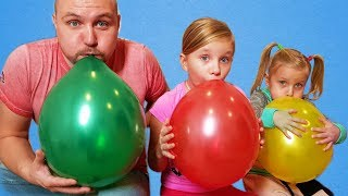 Download ALISA plays with Balloons ! Fun playtime with children ! Сollection of children's videos Video