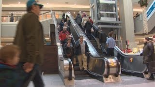 Download Mic Mac Mall sure is busy today - Holiday shopping time lapse Video