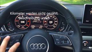 Download Audi A4 B9 Stop KM Stop KM counting while driving the car Video