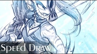 Download Undyne SPEED DRAW - Collab with KIWI BYRD Video