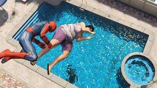Download GTA 5 Water Ragdolls   SPIDERMAN Jumps/Fails Ep.27 (Euphoria physics   Funny Moments) Video