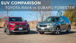 Download SUV Comparison | 2019 Toyota RAV4 vs 2019 Subaru Forester | Driving.ca Video