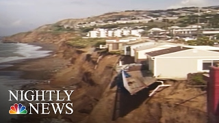 Download Cliffside Homes Near Collapse in California Due to El Niño Erosion | NBC Nightly News Video
