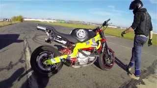 Download Stunt Moto Honda CBR 600 Lotnisko Legnica , 4team Video