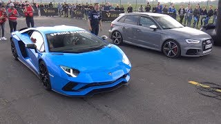 Download 450HP Audi RS3 Sportback vs 740HP Lamborghini Aventador S Video