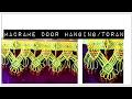 Download Easy Making Tutorial of Macrame toran/ Door hanging. Video