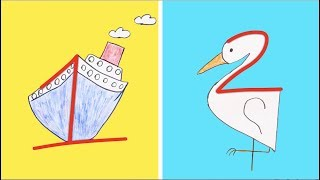 Download 8 WAYS TO LEARN HOW TO DRAW    DRAWING WITH LETTERS AND NUMBERS Video