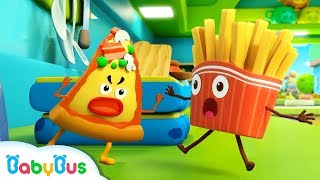Download French Fries vs Naughty Pizza | Ice Cream, Learn Colors | Kids Songs | Kids Cartoon | BabyBus Video