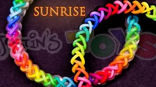 Download How to Make a Sunrise #justinstoyshybrid Rainbow Loom Bracelet Tutorial Video