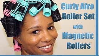 Download ″Curly Afro Spiral Curls″ Roller Set on Natural Hair Using Magnetic Rollers Video