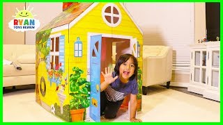 Download Ryan Pretend Play with PlayHouse and Hides from Emma and Kate Video