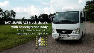Download The Tata Super Ace chassis with passenger body: a tough 18-seater truck with a van's suspension Video
