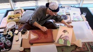 Download Ukiyo-e woodblock printmaking with Keizaburo Matsuzaki Video
