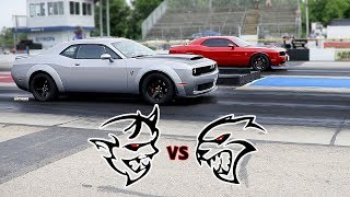 Download DEMON GETS SPANKED BY HELLCAT! NOT ONCE BUT TWICE! BYRON DRAGWAY! Video