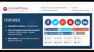 Download AccessPress Social Share Plugin Configuration Video