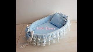 Download DIY,Making Baby Basket, Pillow and Bow, Hasır Bebek Sepeti Süsleme,Yastık ve Dolgulu Fiyonk Yapımı Video