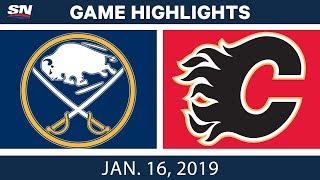 Download NHL Highlights | Sabres vs. Flames - Jan. 16, 2019 Video