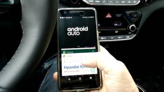 Download Hyundai Ioniq Electric – use Android Auto (Spotify) and Chrome browser at the same time Video