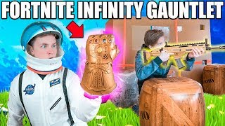Download FORTNITE BOX FORT BATTLE IRL!! 📦⛏ Thanos Infinity Gauntlet Video