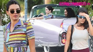 Download Kendall Jenner Takes Her Vintage Cadillac Out For A Spin With Kourtney Kardashian & Luka Sabbat Video