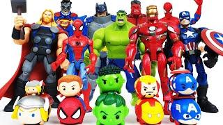 Download Avengers Assemble! Hulk, Iron Man, Thor, Spider-Man, Captain America, Batman, Superman Video