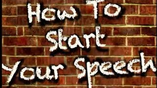 Download How To Start Your Speech (3 excellent openings) Video