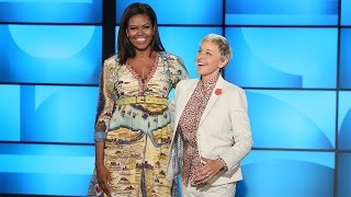 Download First Lady Michelle Obama Co-Hosts with Ellen! Video