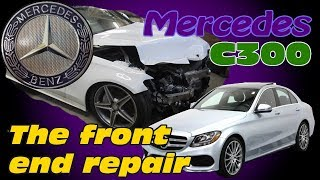 Download Mercedes C300. Body repair. Ремонт кузова. Video