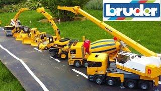 Download BRUDER TOYS BEST OF 2016 - trucks, tractors, excavators for kids! Video