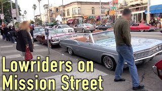 Download Strolling along Mission Street San Francisco, admiring the lowriders (and other vehicles as well) Video