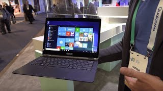 Download Best of CES 2018: Asus NovaGo Snapdragon 835 Windows 10 at Qualcomm CES 2018 booth Video