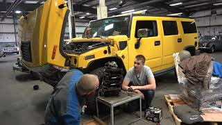 Download Can the Cheapest Hummer H2 be Saved??? Looking Inside the 6.0 Vortec Video