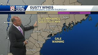 Download Gusty winds and colder temperatures arrive overnight Video