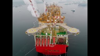 Download Shell's Prelude Floating Liquefied Natural Gas (FLNG) facility starts its journey to Australia Video