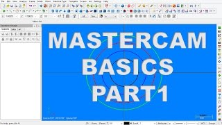 Mastercam Tutorial For Beginner - 2D Drawing : Part 1 Free Download